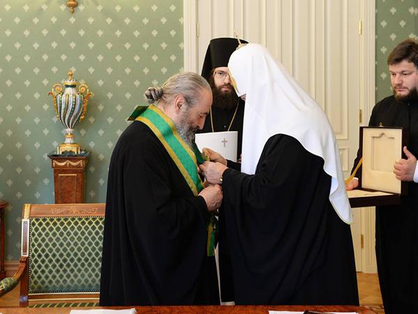 Блаженнейший митрополит Онуфрий накануне 70-летия награжден орденом преп. Сергия Радонежского I степени