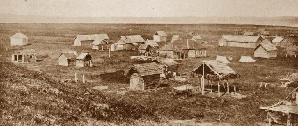 Поселок в устье реки Тигиль