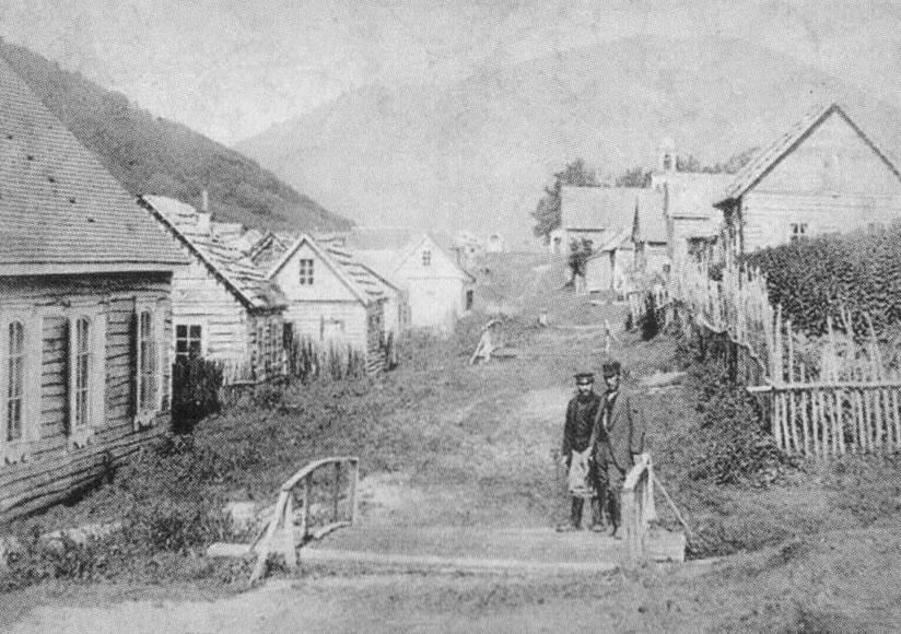 Главная улица Петропавловского порта, 1892г., фото из фондов Камчатского краевого объединённого музея (КГБУ ККОМ)
