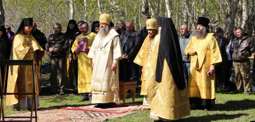 День Всех святых в скиту мужского монастыря