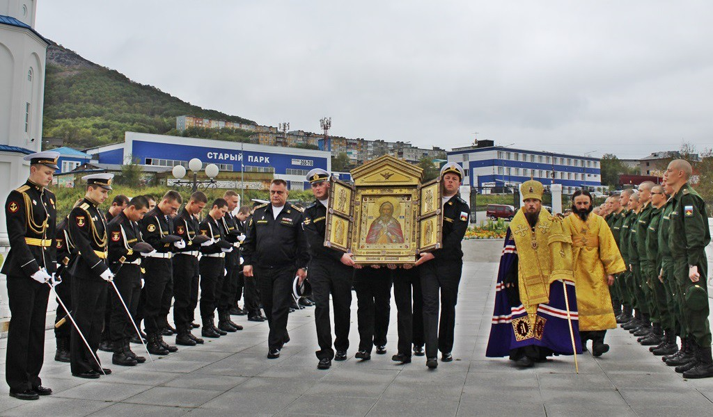 Молебен перед главной иконой ВДВ России - образом пророка Божия Илии
