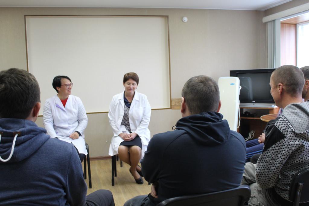 Занятия в отделении реабилитации