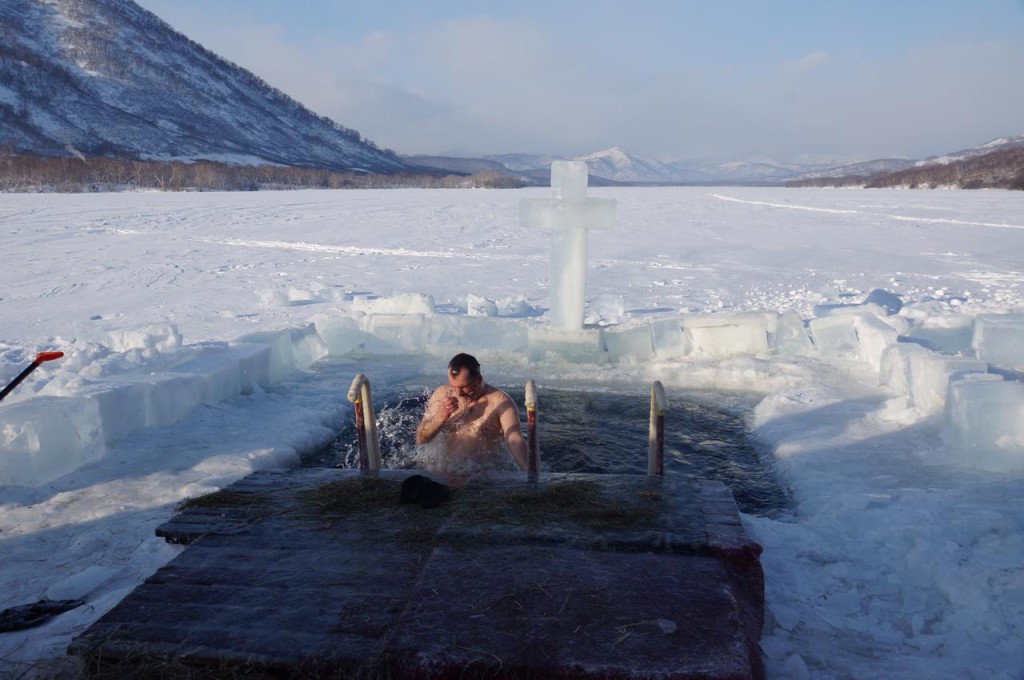 купание на озере п. Рыбачий
