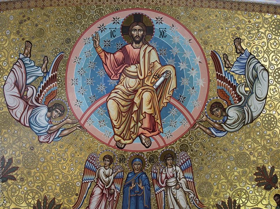 Вознесение Господне. Роспись центральной западной конхи собора Николая Чудотворца в Кронштадте