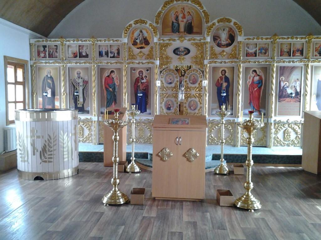 Внутреннее убранство храма Рождества Христова п. Тигиль