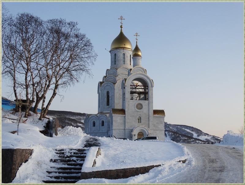 Морской собор на территории Камчатского Свято-Пантелеимонова мужского монастыря
