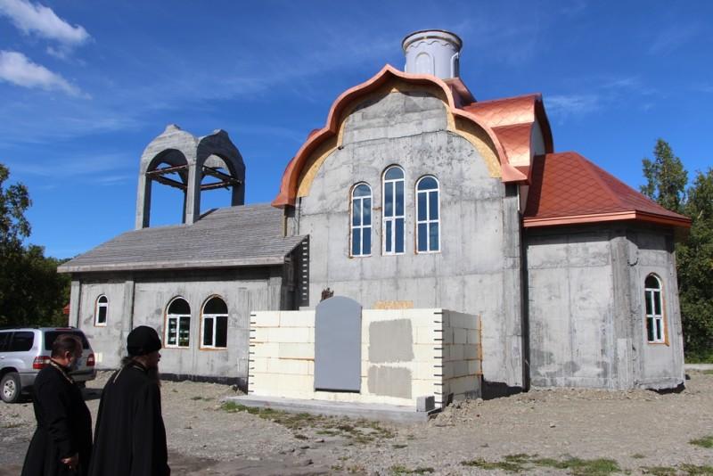 Строящийся храм в честь свт. Луки Крымского