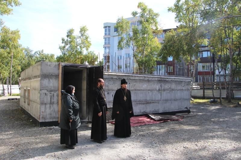 Строящийся храм в честь святой Матроны Московской