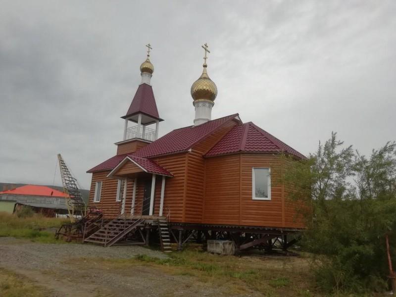 Строящийся Храм Новомучеников и исповедников Российских с. Каменское